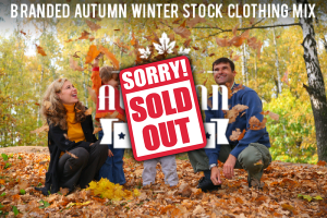 Stock clothes Brand stock clothing for autumn and winter image sold