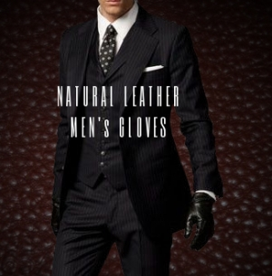 Stock clothes Men's natural leather gloves A/W image